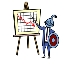 man in armour at flip chart