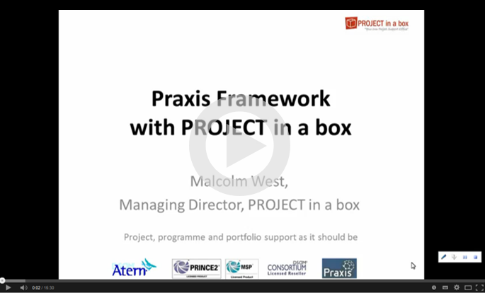 You tube video of Praxis and Project in a box